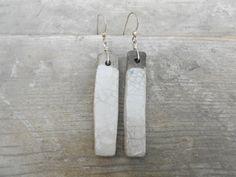 Orecchini in argento e ceramica raku di LeTerreDellaTorre su Etsy