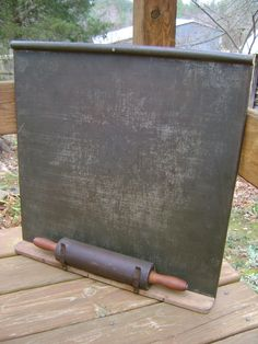 Antique Tin Pastry Board Rolling Pin
