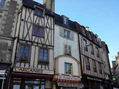 Middle Age buildings close to the Cathedral in Poitiers France