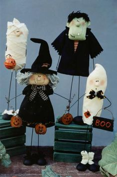Something to sew. Stick People - Halloween