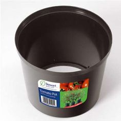 Tomato Grow Pot Place Around Plant To Protect From Wind And Bugs Half In
