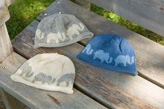 Ravelry: Elephant Hat pattern by Cheryl Beckerich free knitting pattern Baby Hat Knitting Pattern, Baby Hats Knitting, Knitting Patterns Free, Free Knitting, Knitted Hats, Crochet Patterns, Free Pattern, Crochet Hats, Crochet Ideas