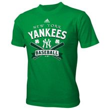 New York Yankees Youth St. Patricks Day Double Rainbow T-Shirt by adidas