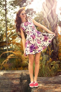 Kayla Floral Dress available at tipilly.com!