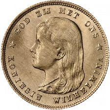 10 Gulden Wilhelmina 1897U, voorzijde