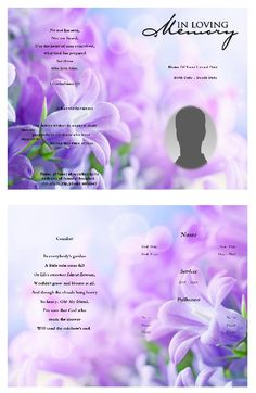 Free Funeral Program Template Self Editable And