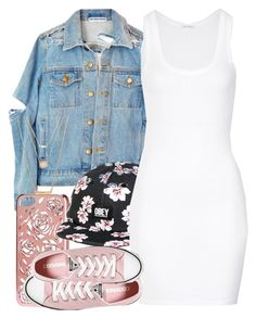 """""""EVOL """" by jasmineharper ❤ liked on Polyvore featuring H&M, OBEY Clothing, American Vintage, Converse, Forever 21, women's clothing, women, female, woman and misses"""