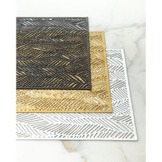 Chilewich Drift Placemat ($11) ❤ liked on Polyvore featuring home, kitchen & dining, table linens, black, chilewich e chilewich table linens