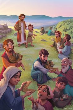 ArtStation - World Vision Easter Storybook Card, Ian Dale Pictures Of Jesus Christ, Bible Pictures, Bible Words, Bible Art, Idees Cate, Jesus Cartoon, Spiritual Pictures, Testament, Bible Illustrations
