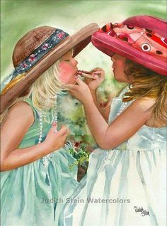 Young ladies .. By artist Judith Stein