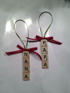 Grandparents Day Craft Christmas Ornament for kids to make
