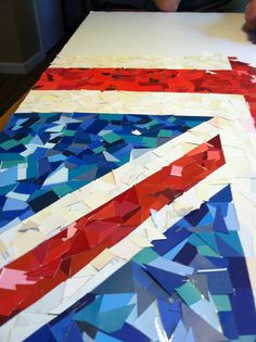 Union Jack mosaic made with paint samples