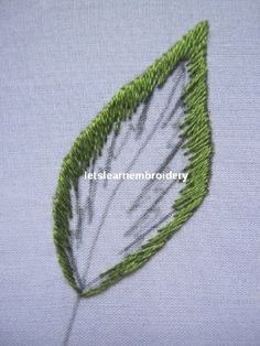 Let's learn embroidery: Long and short leaf