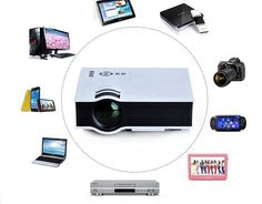 UC40 55WHD 1080P Mini Home High Definition LED Projector w/ HDMI / AV / SD / USB / Remote Control - From 119,= for Euro 86,=