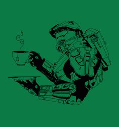 Master Chief, Teabagger available at Busted Tees