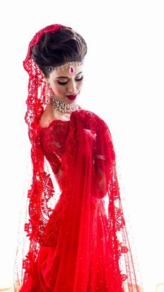 Red lace lengha, Indian bride in Mexico, destination wedding