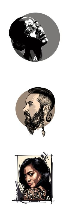 Vector Portraits Part1 on Behance