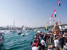 Cada 16 de Julio, Málaga celebra la típica procesión de la Virgen del Carmen / The traditional procession of the Virgen del Carmen is celebrated every July 16 in Málaga