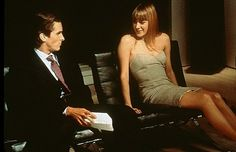 Still of Christian Bale and Chloë Sevigny in American Psycho
