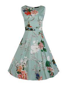 Buy Vintage Style Slash Neck Bubble Dress & Dresses - at Jollychic