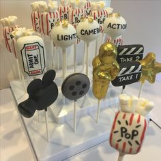 Hollywood movie themed cake pops