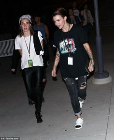 Ruby Rose with fiancée Phoebe Dahl at Blondie and Melissa Etheridge concert #OITNBstarlet  @ChicAPic