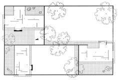 Mies van der Rohe | Estudios sobre la Casa Patio (Patio Houses) | 1931-1934
