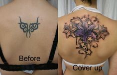 Tattoo Cover Up Ideas! Just as a phoenix rises from the ashes born anew, a tattoo you no longer desire can be made into something beautiful! Here are 60 Tattoo Cover Up Ideas! #‎inkdoneright ‪#‎tattoo‬ ‪#‎tattoos‬ ‪#‎inked‬ ‪#‎art‬ ‪#‎inkedgirls‬ ‪#‎tattooed #‎tattooedgirls‬