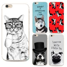 Cute Animal Cartoon Pet Dog Phone Case For Apple iPhone 5 5s SE High quality Soft TPU Back Cover Luxurious Silicon coque