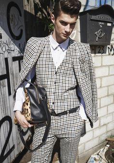 brit chic meets leo: Etro + Balmain bag