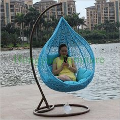 Find More Hanging Baskets Information about Blue color hanging rattan chair furniture with cushions,High Quality chairs dining room furniture,China furniture swivel chair Suppliers, Cheap chair organizer from Hongyue Cane Skill Furniture on Aliexpress.com