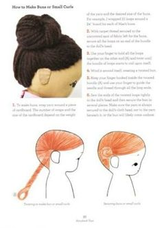 Crochet Amigurumi Hair - Tutorial ❥ 4U // hf by bonita