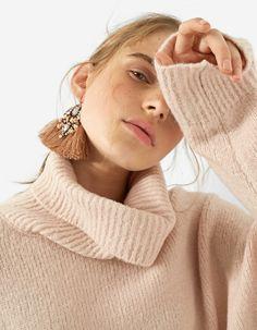 Polo neck sweater - Úplet | Stradivarius Česká republika - Winter Sale