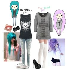 """Hardcore + Pastel Goth c;"" by scarletbiersack on Polyvore"