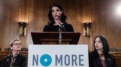 "mark Brand Ambassador Ashley Greene announced ""NO MORE Campaign"" Study Results on Capitol Hill in Washington, D.C."