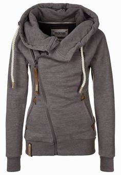 Ladies adorable grey color hoodie