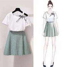 Women's Fashion Dresses Online Shopping – Chic Me Kawaii Fashion, Cute Fashion, Look Fashion, Teen Fashion, Korean Fashion, Fashion Drawing Dresses, Fashion Illustration Dresses, Fashion Dresses, Mode Outfits