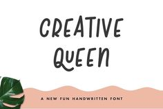 Creative Queen by The Routine Creative on @creativemarket
