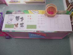 play shop math center money game FREE printables