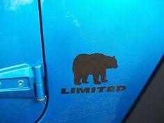 Jeep Wrangler Black Bear Decals Wrangler Left & Right Black Bear Limited Edition