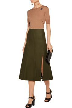Shop on-sale Rochas Wool blend-felt midi skirt. Browse other discount designer Skirts & more on The Most Fashionable Fashion Outlet, THE OUTNET. Designer Skirts, Race Wear, Skirts For Sale, Green Wool, Luxury Fashion, Womens Fashion, Online Clothing Stores, Fashion Outlet, Discount Designer