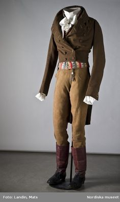1830s (boy oh boy, I'd love to see men walking around/riding horses/adventuring/paying calls/and otherwise manning it up in duds like these)