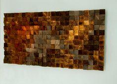 Wood wall Art wood sculpture mosaic geometric art