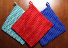 The Best Crocheted Potholder by Heather Tucker - plain old ordinary potholders but oh, so useful!