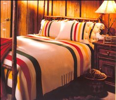 I wish Hudson Bay blankets weren't so expensive. One would look great in little man's room