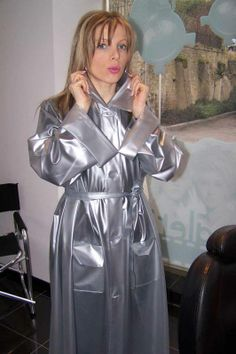 Grey pvc mackintosh
