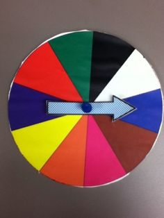 Use a color spinner if you have too many kids for a guessing game