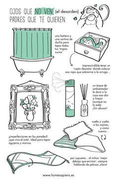 ATENCIÓN: este consejo es sólo para casos de emergencia... http://homesapiens.es/2014/11/consejos-para-ocultar-el-desorden/