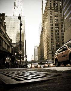 NYC. E 42th St. at ground level
