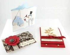 Handmade Stampin' Up! Gift Card Holders